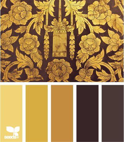 yellow, brown — tonal gilt