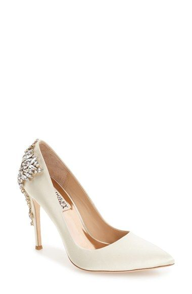 Badgley Mischka Crystal Embellished Pointy Toe Pump