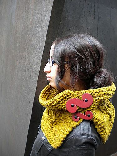 Ravelry: Drumlin Enclose pattern by Andrea Marquis, uses French Curve closures by JUL Designs.