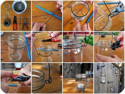 DIY hanging mason jar tutorial