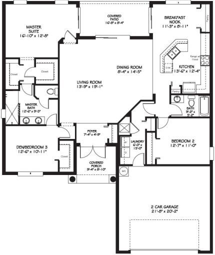 1 814 square feet of beautiful layout in thetamarack ii for Floor quadrant