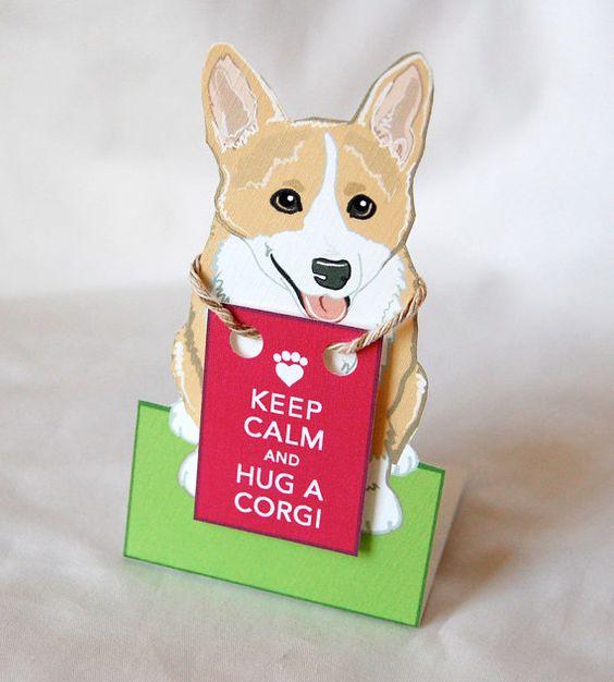 keep calm corgi. desk decor