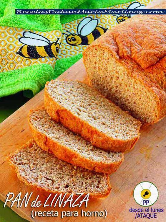 Pan de Linaza, receta para horno (Dukan Ataque)
