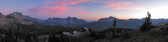 Sunset at Granite Park Chalet