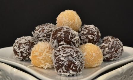 Coconut & Cocoa Brigadeiros | Craveable Cookies & Cakes | Pinterest ...