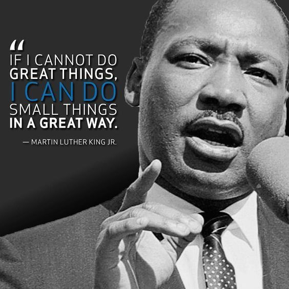 Image result for mlk small things image