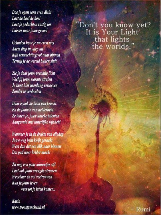 Rumi Citaten Nederlands : Doe je ogen eens even dicht afscheid nemen gedichten