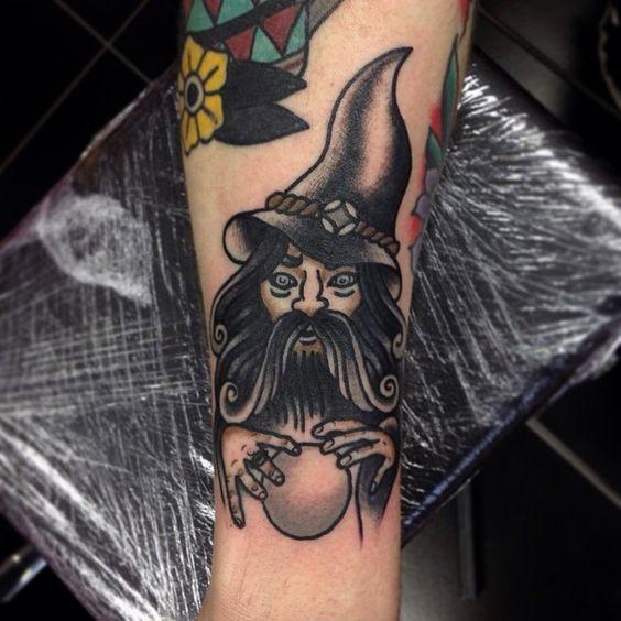 traditional wizard tattoo