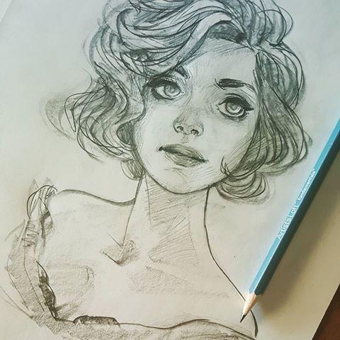 Belos desenhos no estilo anime Ilustrações singelas - Arte no Papel Online