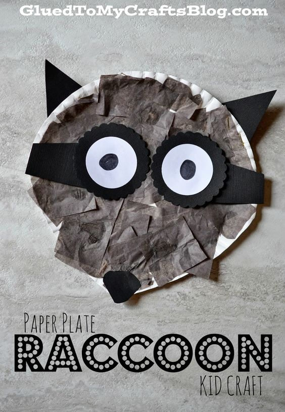 Paper Plate Raccoon {Kid Craft} http://www