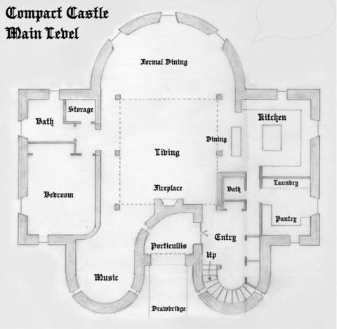 Compact Castle Floor One Castle Plans Castle Floor Plan Castle House Plans