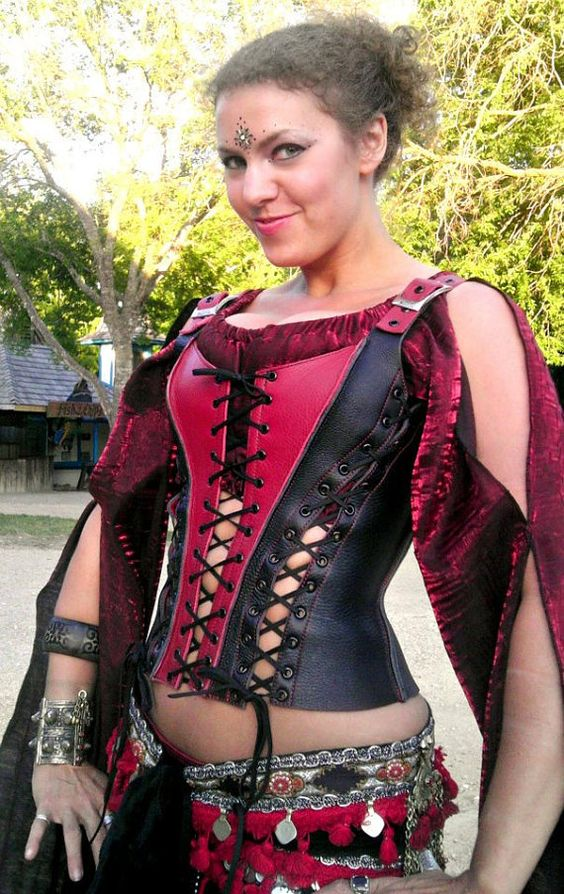 Leather Overbust Corset by SonofSandlar on Etsy