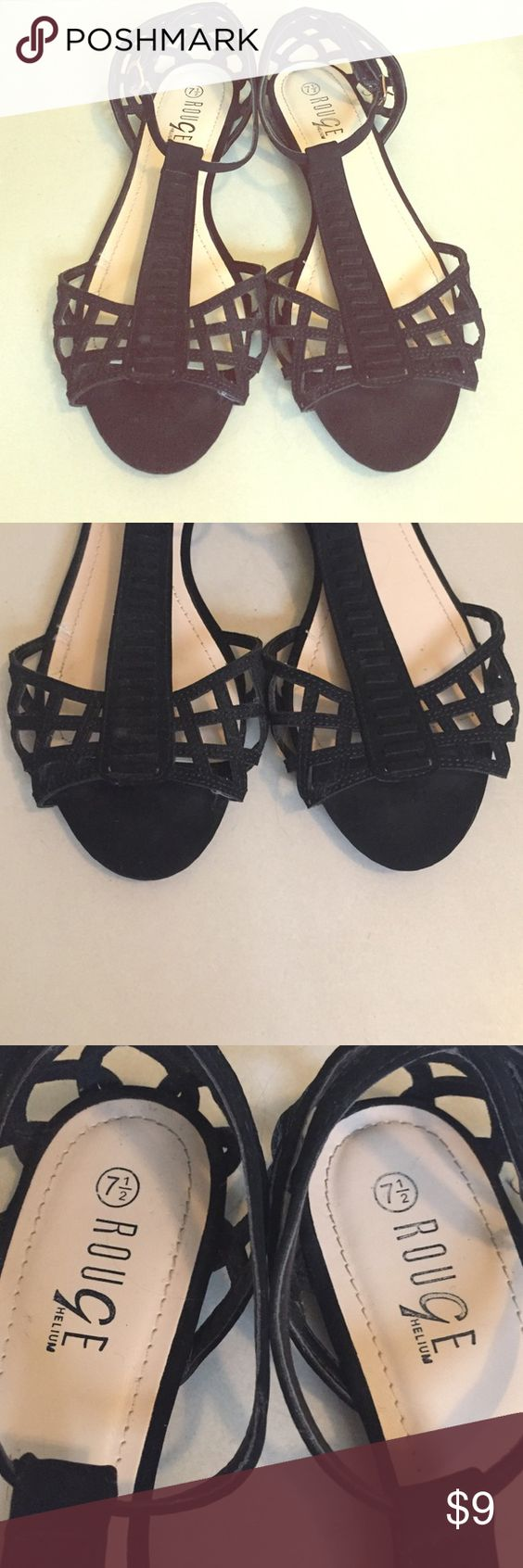 Black sandals size 7 - Black Sandals Size 7 1 2 Great Condition Please Feel Free To Make
