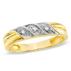 Ladies' Diamond Accent Wedding Band in 10K Gold - View All Jewelry - Gordon's Jewelers