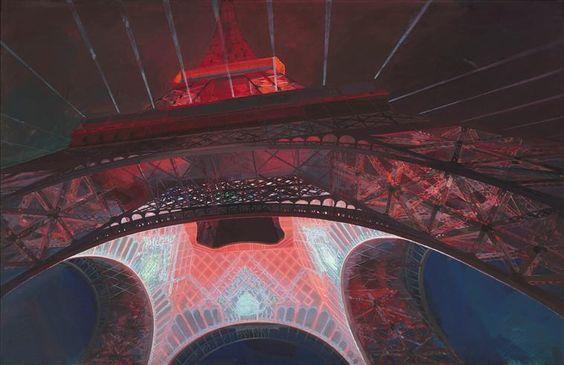 Illumination de la Tour Eiffel pour l'Exposition internationale de 1937 Granet André (1881-1974)