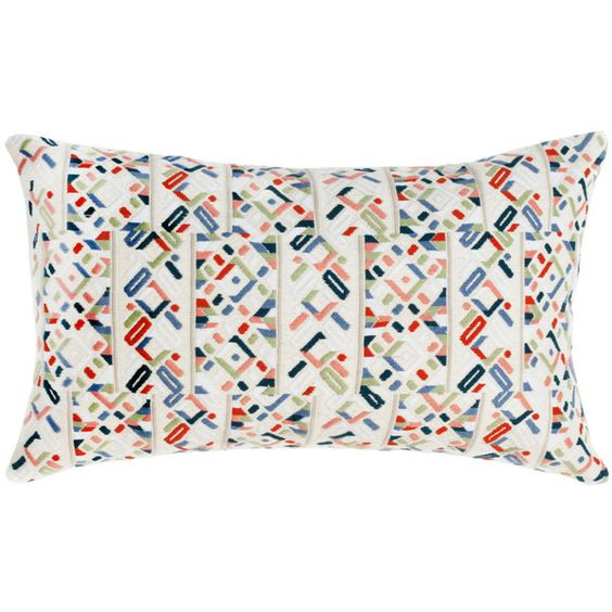 Archive New York Nahuala Iii Pillow By ($253) ❤ liked on Polyvore featuring home, home decor, throw pillows, geometric throw pillows, traditional home decor, geometric pattern throw pillows and patterned throw pillows