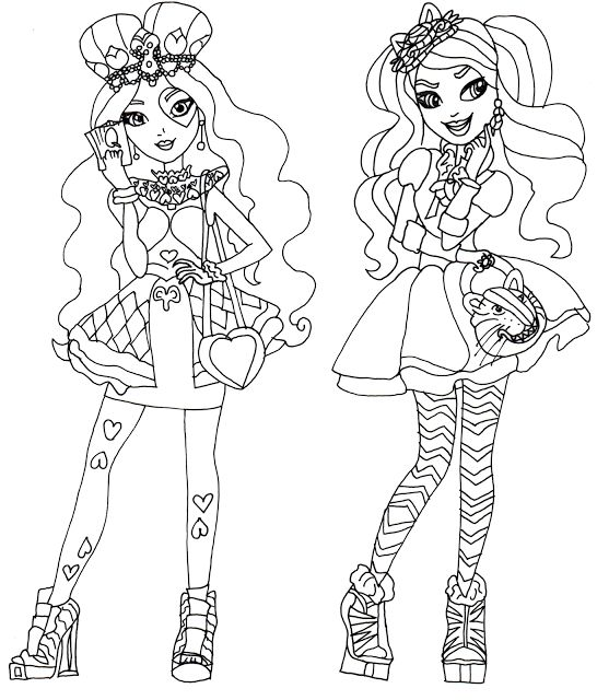 Ever After High Coloring Pages Raven Queen Raven queen colouring ...
