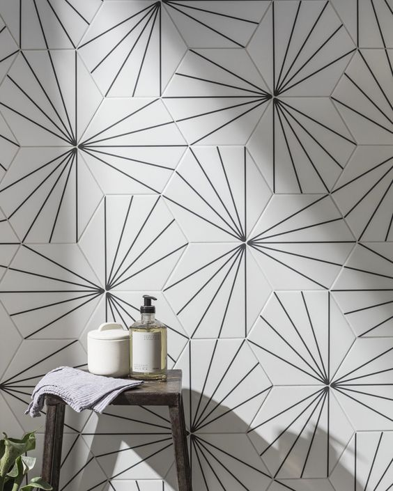 Carrelage Hexagonal Blanc A Motif En 2020 Avec Images