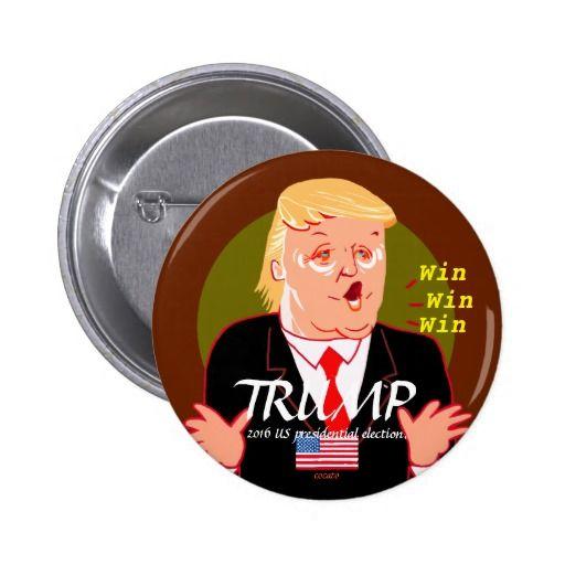 Trump-2016 United States presidential election 5.7cm 丸型バッジ