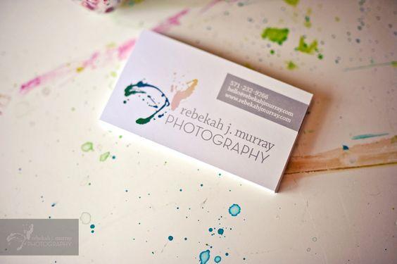 Rebekah J. Murray Photography business cards