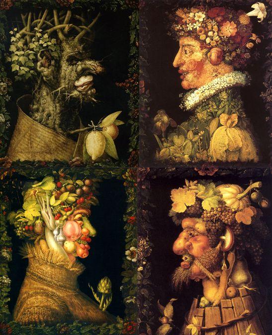 Arcimboldo Les 4 Saisons Maternelle : arcimboldo, saisons, maternelle, Arcimboldo,, Série, Saisons,, 1563-1573, Plastique,