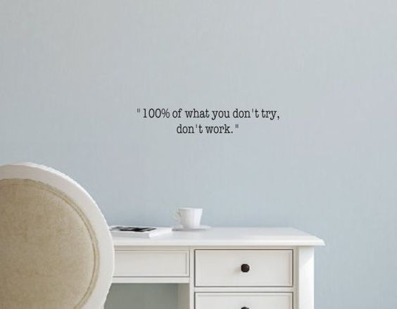 Vinyl Wall Decal 100 of what you don't try don't by landbgraphics
