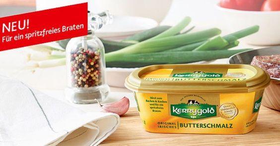 Wir suchen 500 Gourmet-Tester für das neue Butterschmalz von Kerrygold. Vom 1. bis 30. November 2016 hast du die Möglichkeit dich als Produkttester zu bewerben. - https://produkttest.kerrygold.de/?view=social&type=test&id=253