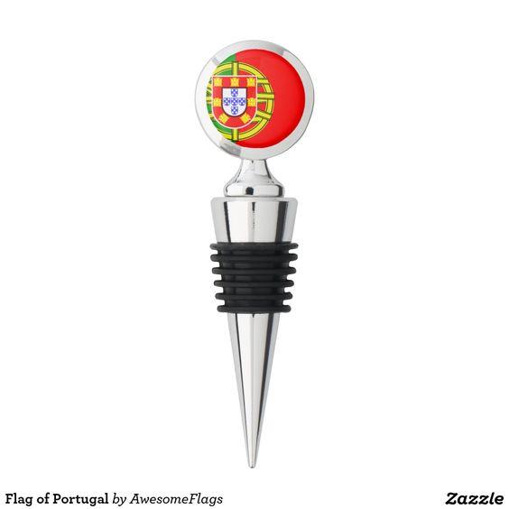 Flag of Portugal Wine Stopper