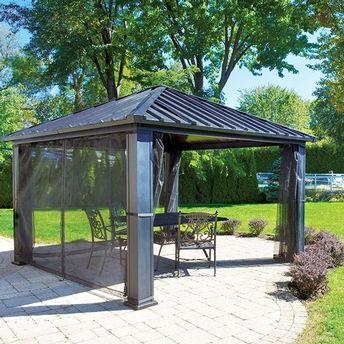 gazebo citadin il a une structure d 39 aluminium un toit d 39 acier isol de 2 1 4 d 39 paisseur. Black Bedroom Furniture Sets. Home Design Ideas