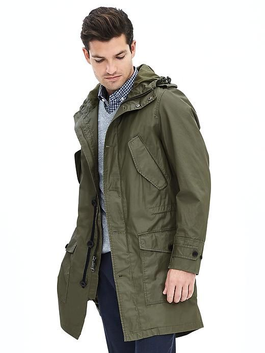 Lightweight Hooded Parka | Banana Republic | my style | Pinterest ...