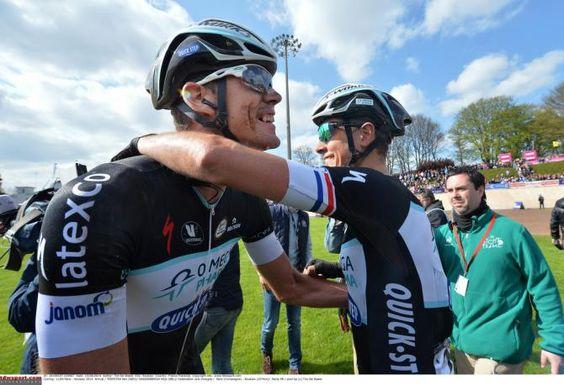 Stijn Vandenbergh congratulating Terpstra  Photo: © Tim de Waele/TDW Sport