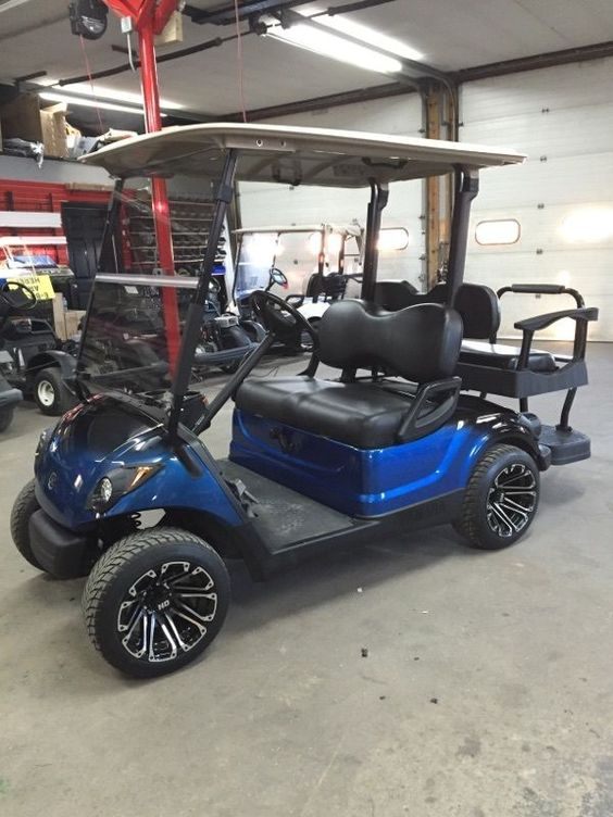 2010 Yamaha Gas Golf Cart Custom New Paint Wheels Seats
