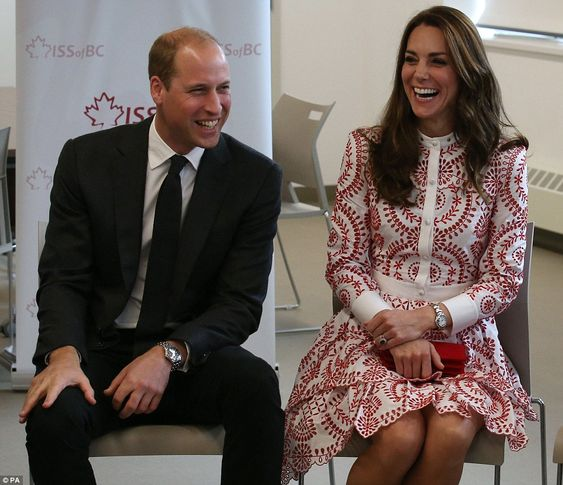 The Duke and Duchess of Cambridge met with young people and refugees who benefit from the ...