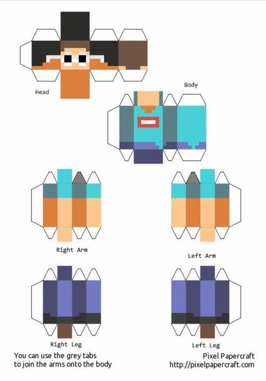 Papercraft Minecraft Skin Minecraft Printables Minecraft Characters