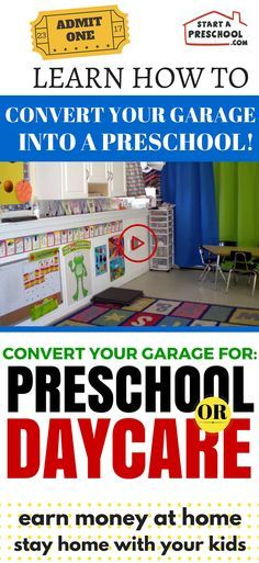 How To Convert Your Garage Into A Preschool or Daycare | StartAPreschool.com