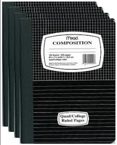 "Mead 09000 Quad Top Composition Books, Special Ruled, 100 Sheets, 9.75"" x 7.5"", Pack of 4 Mead http://www.amazon.com/dp/B00GWSFM3Y/ref=cm_sw_r_pi_dp_.nWnub0MG6TGM"