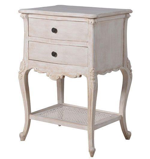 Rattan Loveseat Chateau Whitewashed Shabby Chic Furniture