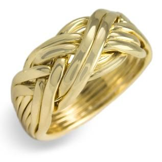 8WB Men's Puzzle Ring - Gold, Silver or Platinum - (Shawn )