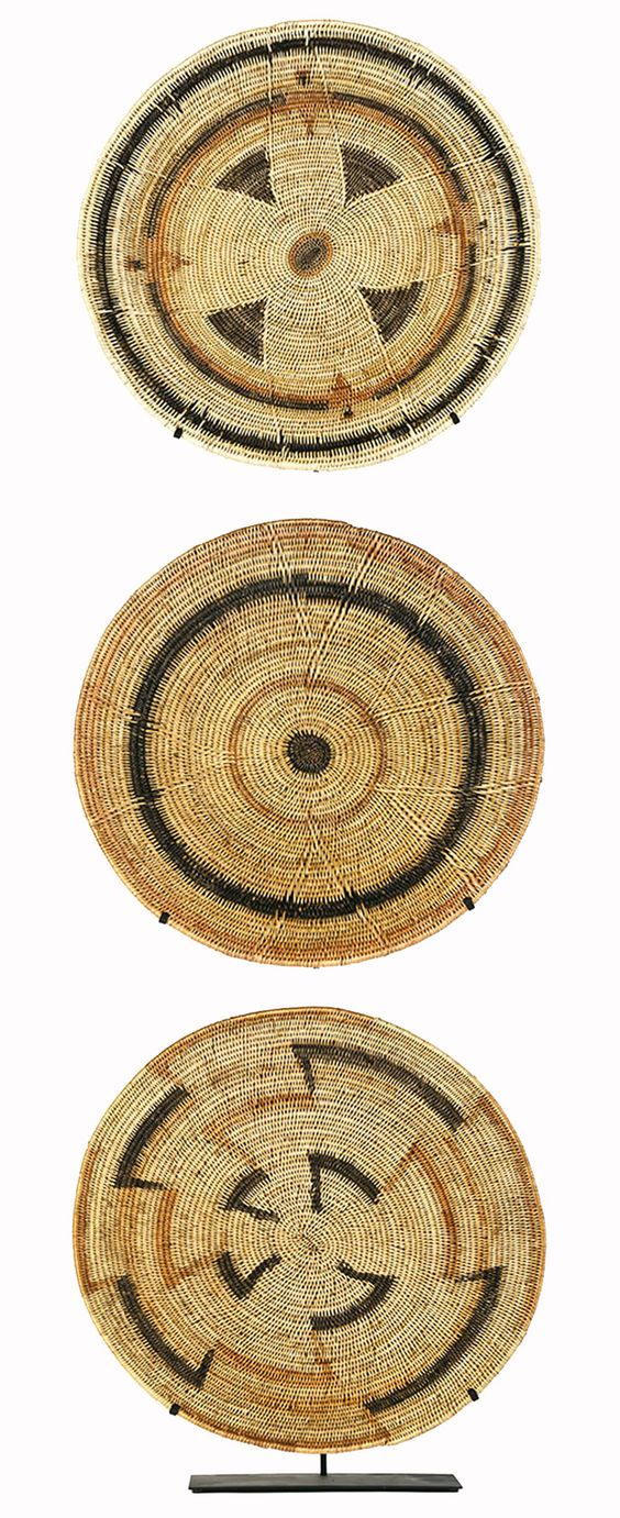 Africa | Baskets from the Mbunda people of Zambia | Locally known as Makenge Maselo.  Made from reeds