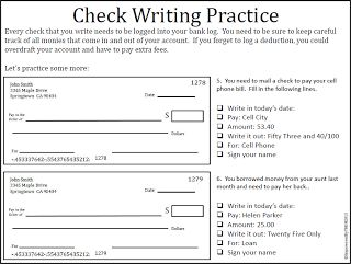 Printables Writing Checks Worksheets check writing practice paige and isaiah educational practice
