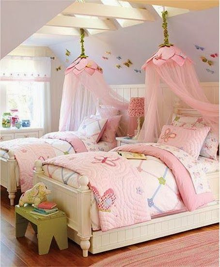 Ideas de rec maras gemelas para ni as decoraci n for Cuartos decorados kawaii