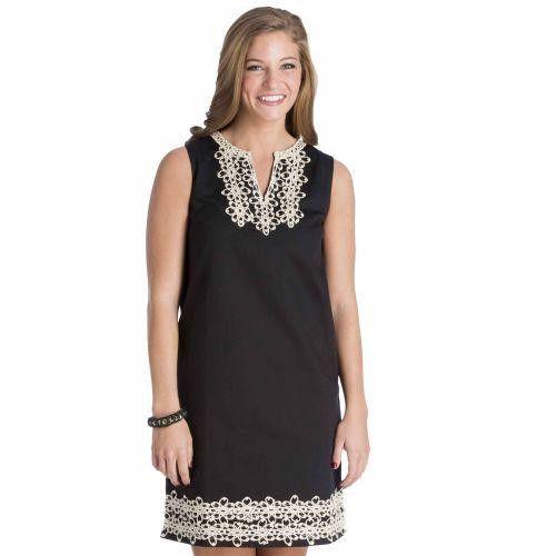 Blakely Shift Dress in Black by Mud Pie