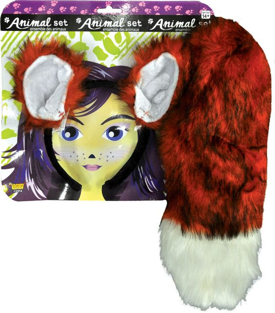 costume kit: fox ears and tail set Case of 2