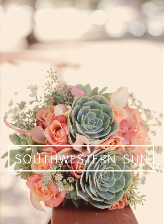 DIY Southwestern Wedding Bouquet // Succulents & Calla Lillies