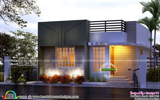 Tiny Low Cost Kerala Home Design In 700 Sq Ft Kerala House Design Duplex House Design Small House Elevation Design