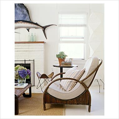 great chairs in jodi peckman's hamptons living room