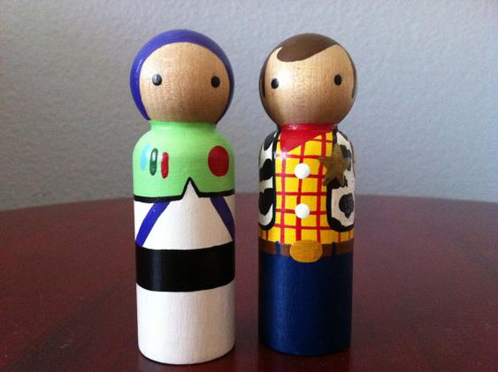 Painted wooden toy blanks