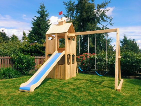 Custom Backyard Play Structures : Play structures, My wife and Playground slide on Pinterest