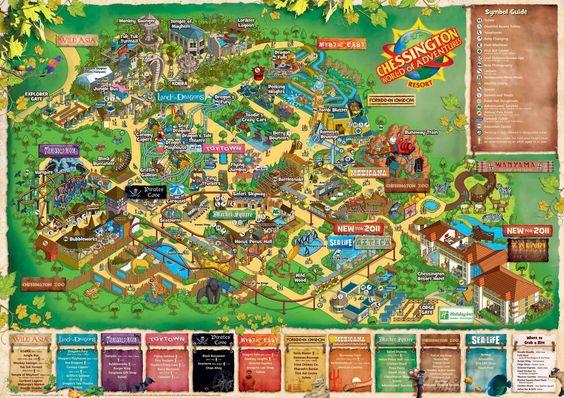 chessington zoo map 2014