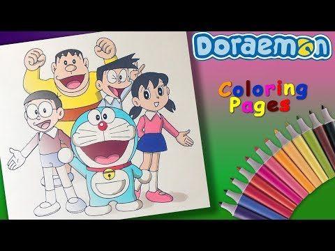 Nobita Shizuka Suneo Jaian Coloring Page Draw And Coloring Doraemon Cartoon Forkids Youtube Favorite Cartoon Character Super Mario Coloring Pages Doraemon